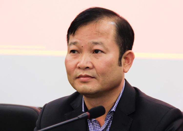 Ông Nguyễn Đại Lượng phát biểu tại cuộc họp báo sáng 6/3. Ảnh: Dương Tâm