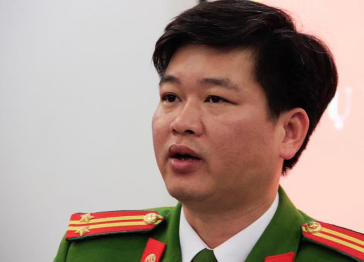 Phó trưởng công an huyện Nguyễn Việt Nguyễn. Ảnh: Dương Tâm