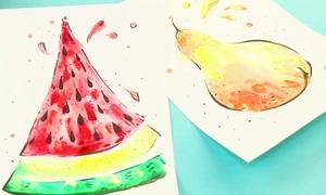 Cách vẽ hoa quả sống động dành cho trẻ