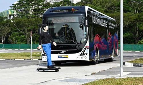 Mẫu xe mới sẽ sớm chạy thử nghiệm trong khuôn viên trường NTU. Ảnh: Phys.