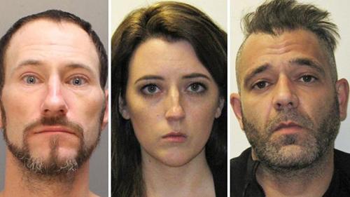 Từ trái sang: Johnny Bobbitt, Katelyn McClure vàMark DAmico