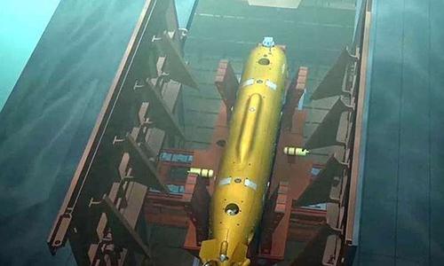 Đồ họa về ngư lôi Poseidon của Nga. Ảnh: BQP Nga.