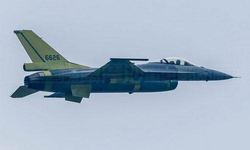 Chiếc F-16V đầu tiên của Đài Loan bay thử hồi tháng 8. Ảnh: Taipei Times.