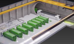 Hệ thống thu gom rác dưới lòng đất như tàu điện ngầm