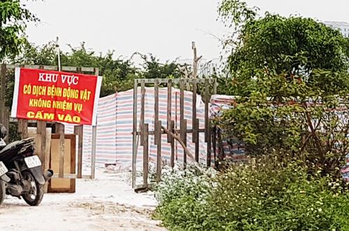 Chốt kiểm soát dịch tại khu vực Đầm Nấm, phường Ngọc Thuỵ, Long Biên, Hà Nội. Ảnh: Võ Hải.
