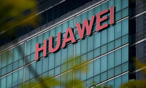 Logo của tập đoàn công nghệ Huawei. Ảnh: AFP.