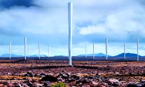 Turbin gió tạo ra điện không cần cánh quạt