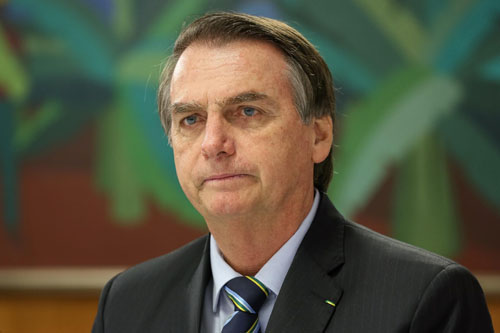 Tổng thống Brazil Jair Bolsonaro. Ảnh: AP.