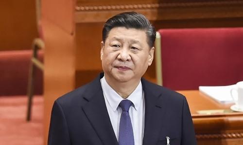 Chủ tịch Trung Quốc Tập Cận Bình tại cuộc họp quốc hội Trung Quốc ngày 5/3. Ảnh: AFP.