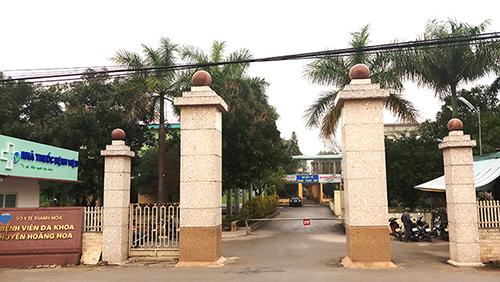 Bệnh viện Đa khoa huyện Hoằng Hoá, nơi bệnh nhân Thành điều trị và tử vong. Ảnh: Lê Hoàng.