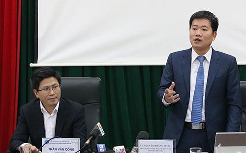 Ông Nguyễn Hoàng Linh thông tin về việc xây dựng tiêu chuẩn. Ảnh: Hán Hiển.