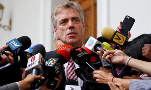 Đại sứ Đức tại Venezuela Daniel Kriener. Ảnh: Reuters.