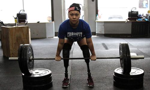 Haven Shepherd tập luyện chuẩn bị cho thế vận hội Paralympic ở Tokyo vào năm 2020. Ảnh: BBC.