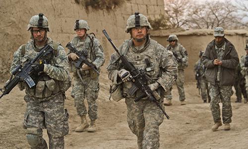 Binh sĩ Mỹ tuần tra tại Afghanistan. Ảnh: US Army.