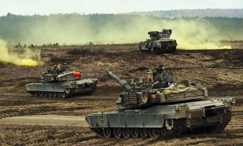 Thiết giáp Mỹ tập trận tại Đức hồi năm 2018. Ảnh: Stripes.