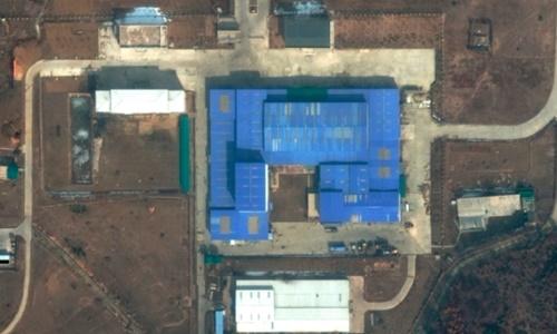 Ảnh vệ tinh cơ sở Sanumdong ngày 22/2. Ảnh: DigitalGlobe.