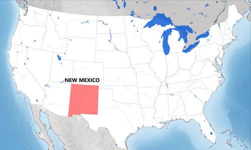 Vị trí bang New Mexico. Đồ họa: World Maps.