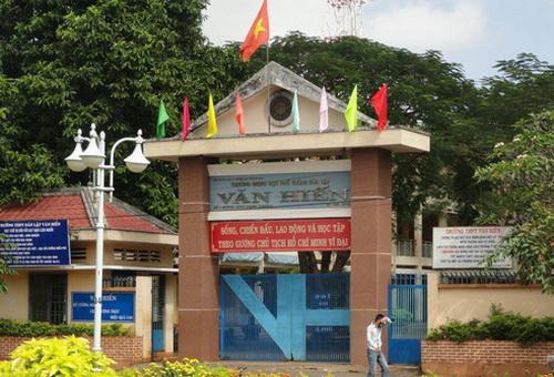 Trường THPT Văn Hiến, nơi có phát hiện nhiều sai phạm của lãnh đạo. Ảnh: Thái Hà