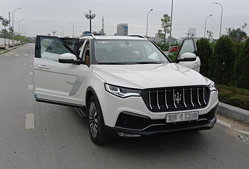 Một chiếc Zotye gắn logo cây đinh ba của hãng xe sang ItalyMaserati. Ảnh: Hội yêu thích xe Trung Quốc