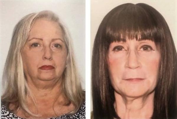 Mary-Beth Tomaselli (trái) và Linda Roberts. Ảnh: Pinellas County Sheriffs Office.