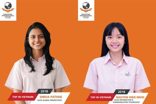 Bảng thành tích ấn tượng của học sinh Trường Quốc tế Singapore - 2