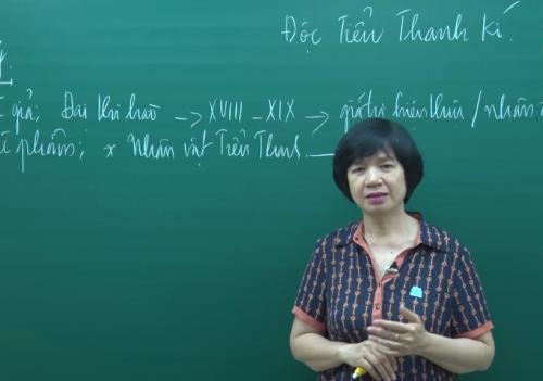Theo cô Tuyết, khi dạy trực tuyến, các thầy cô phải chắt lọc từng đơn vị kiến thức, trau chuốt từng câu chữ.