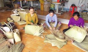 Làng nghề đan cỏ bàng ở Kiên Giang