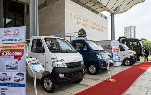 Auto Expo 2019 tập trung giới thiệu các dòng xe thương mại như xe tải, buýt.