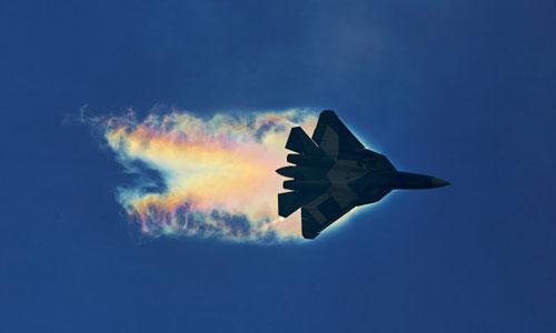 Tiêm kích Su-57 là một trong những vũ khí hiện đại nhất Nga thử nghiệm tại Syria. Ảnh: Military.
