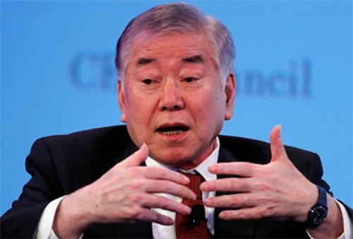 Ông Moon Chung-in, cố vấn đặc biệt về Thống nhất, Ngoại giao và An ninh cho Tổng thống Hàn Quốc Moon Jae-in (Ảnh: Reuters)