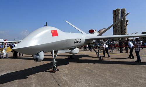UAV chiến đấu CH-5 của Trung Quốc. Ảnh: Xinhua.
