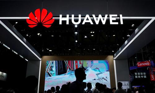Gian hàng của Huawei tại một hội chợ điện tử ở Thượng Hải, Trung Quốc hồi tháng 6/2018. Ảnh: Reuters,
