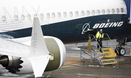 Một chiếc Boeing 737 MAX 9 tại nhà máy của Boeing ở thành phố Renton, bang Washington, Mỹ hôm 12/3. Ảnh: AFP.