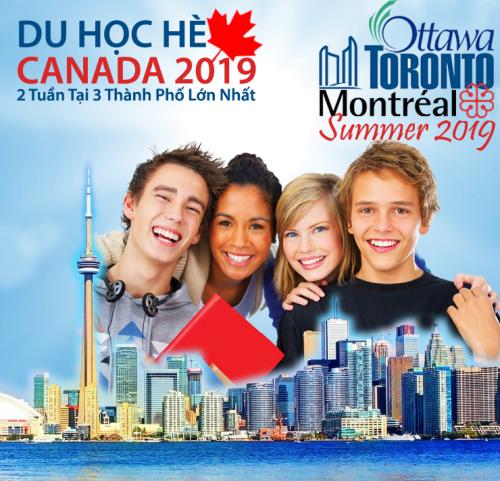 Chương trình du học hè Canada tại 3 thành phố lớn.