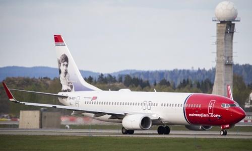 Môt máy bay củaNorwegian Air Shuttle tại Oslo tháng 5/2014. Ảnh: AFP.