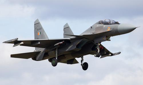 Tiêm kích Su-30MKI của Ấn Độ. Ảnh: Airliners.