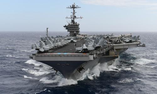 USS Harry S. Truman di chuyển trên Đại Tây Dương cuối năm 2018. Ảnh: US Navy.