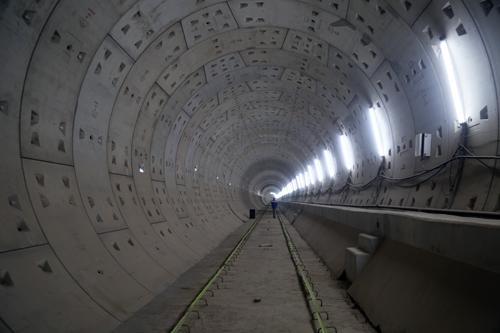 Hầm Metro nối từ ga Ba Son đến Nhà hát thành phố đã cơ bản hoàn thành. Ảnh: Hữu Công