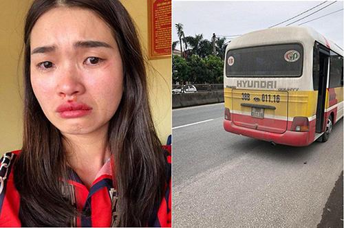 Nạn nhân Hoài gặp nạn khi quay lại cảnh xe buýt chạy lạng lách. Ảnh: T.H