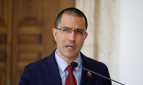 Ngoại trưởng Venezuela Jorge Arreaza. Ảnh: Reuters.