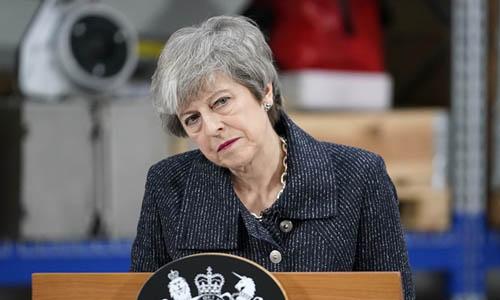 Thủ tướng Theresa May. Ảnh: PA.