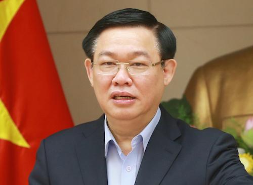 Phó thủ tướng Vương Đình Huệ phát biểutại cuộc họpsáng 14/3. Ảnh: Doãn Tuấn