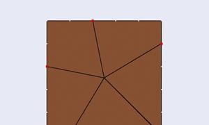 Làm thế nào cắt bánh vuông thành năm phần bằng nhau?