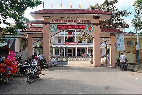 Bệnh viện Đa khoa huyện Đức Thọ, nơi ông Lý công tác. Ảnh: Đ.H