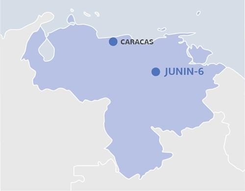 Vị trí mỏ dầu Junin-6. Đồ họa: Gazpromneft.