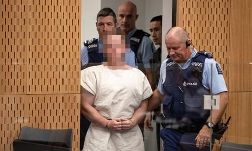 Brenton Tarrant hầu tòa tại New Zealand ngày 16/3. Ảnh: Reuters.