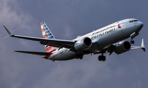Một chiếc Boeing 737 MAX của hãng American Airlines hoạt động hồi năm 2018. Ảnh: Reuters.