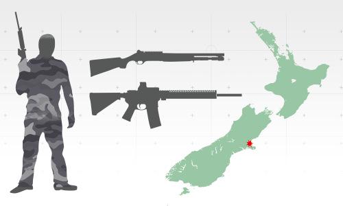 Vị trí hai đền thờ New Zealand bị nhóm xả súng tấn công. Bấm vào ảnh để xem đầy đủ.