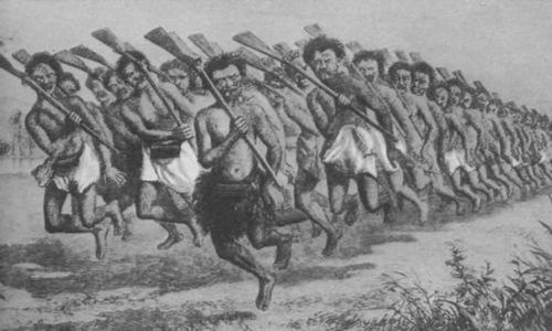 Chiến binh Maori được trang bị súng hỏa mai. Ảnh: Wikipedia.