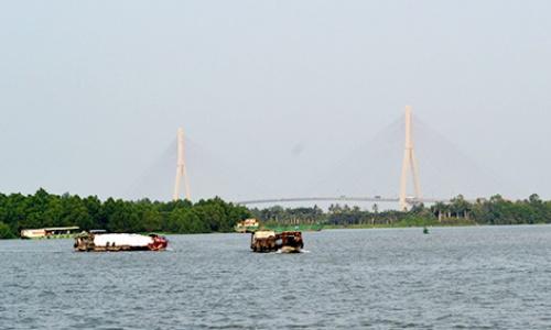 Sông Mekong ở miền tây Việt Nam. Ảnh: Cửu Long.